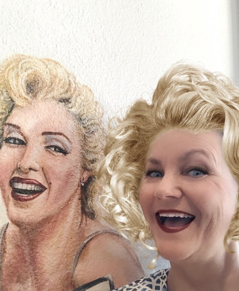Tonya Ruiz with Marilyn Monroe