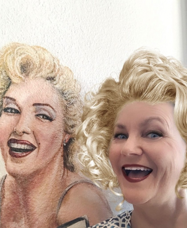 Tonya Ruiz with Marilyn Monroe