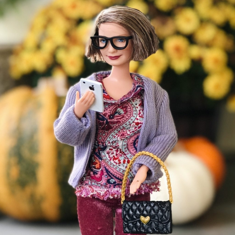 Barbie Gets Real on her iPhone