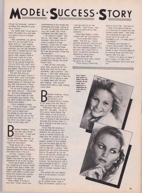Tonya Munson Ruiz TEEN magazine 1980