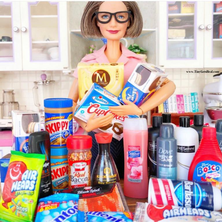 Zuru Mini Brands Barbie gets real tiny groceries
