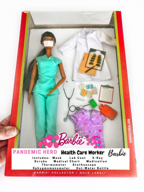 Pandemic Hero Barbie Health Care Worker