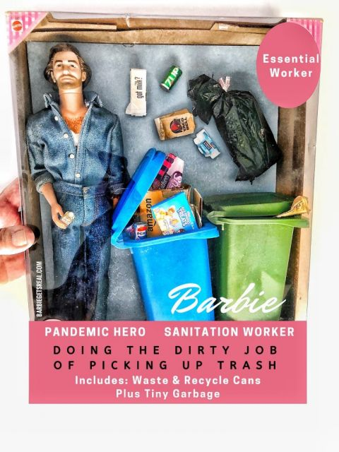 Pandemic Hero Barbie Sanitation Worker