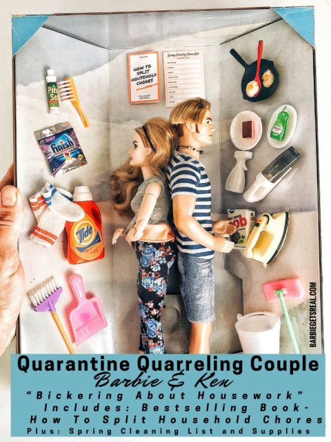 quarantine quarreling couple barbie ken