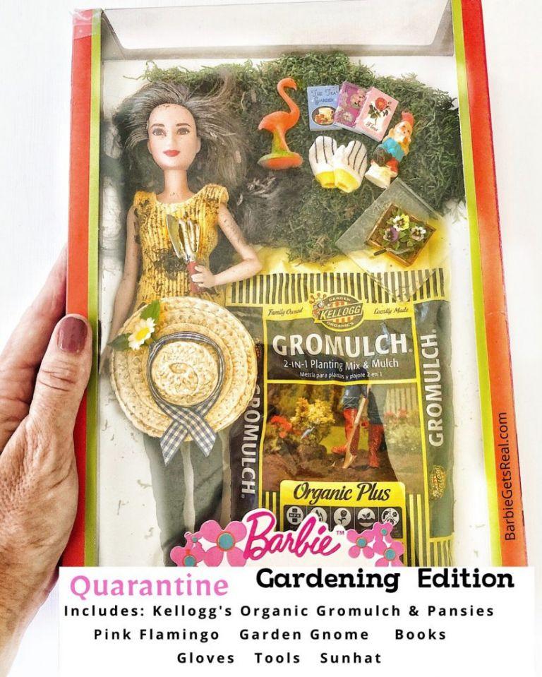 Quarantine Barbie gardening edition