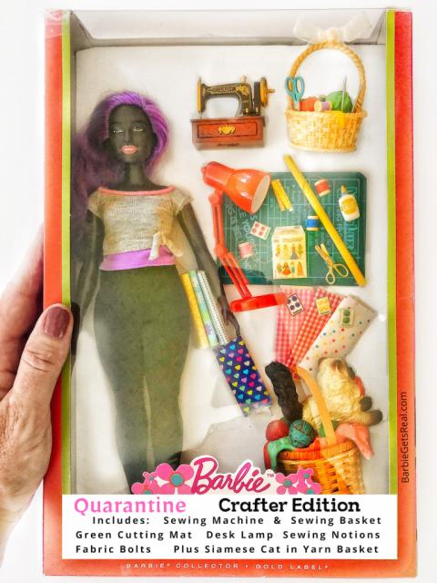 Quarantine Barbie crafter edition