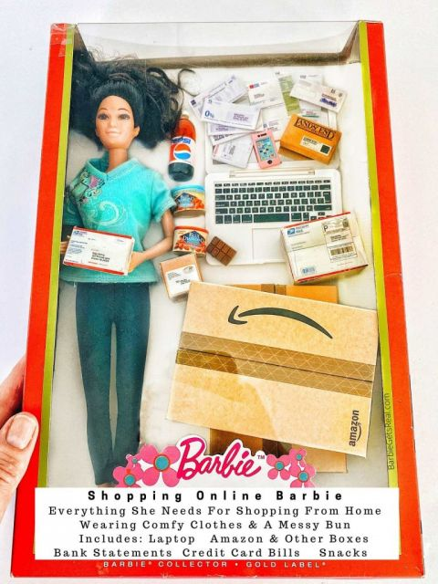 shopping online barbie quarantine barbie